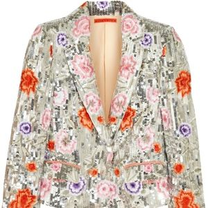 Alice + Olivia Embroidered Sequin Blazer size XS!